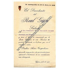 Real Gijón document 1950