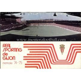 Memoria Sporting de Gijón 1974/75