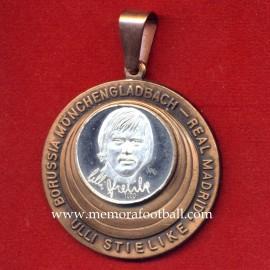 ULI STIELIKE - Borussia Mönchengladbach - Real Madrid 1980s commemorative coin