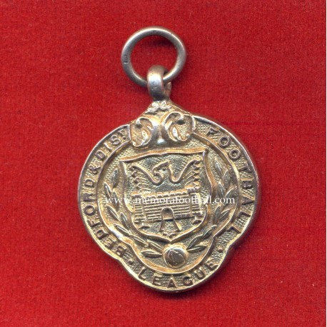 British Silver Football medal Bedford & Dist Football League