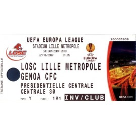 LOSC Lille vs Genoa CFC 22-10-2009 UEFA Europa League