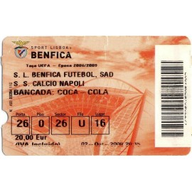 SL Benfica vs Napoli 02-10-2008 UEFA Cup