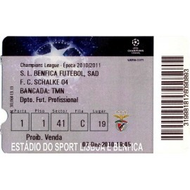 Benfica vs Schalke 04 2010-11 Champions League