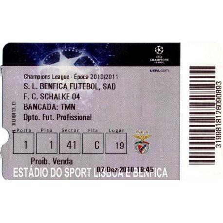 Benfica vs Schalke 04 2010-11 Champions League