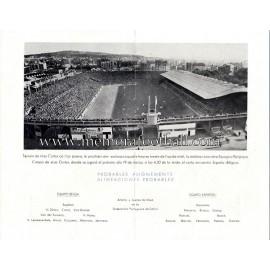 Spain vs Belgium 19-03-1953 friendly match ticket