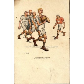 German football comic postcard, 1900s
