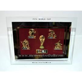 Cuadro pins oficiales 2002 FIFA World Cup