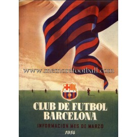 Boletín CF Barcelona nº1 March 1954