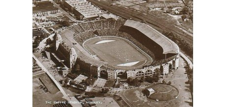 Football stadiums postcard