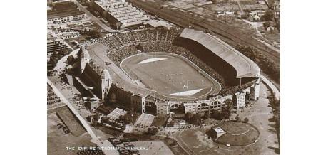 Football stadiums postcard